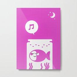 Sound Asleep Fishie Metal Print