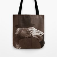 gentleman Tote Bags featuring Gentleman by Alexander Wansuk Ohlsson
