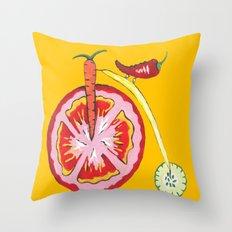 Kitchen Vegetable Art Throw Pillow