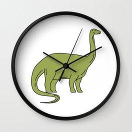 Brontosaurus Mono Line Wall Clock