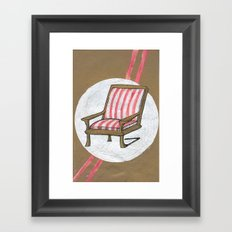 Left Chair Framed Art Print