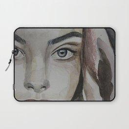 watercolor portrait beautiful girl Laptop Sleeve