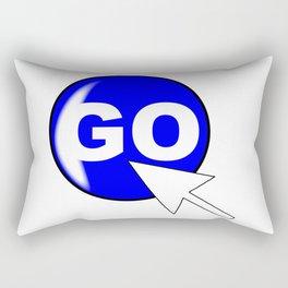 Computer Icon Go Rectangular Pillow