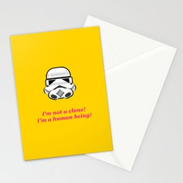 I'm not a clone! I'm a human being! Stationery Cards