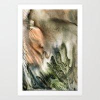 watercolor monotype Art Print