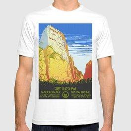 Zion National Park - Vintage Travel T-shirt