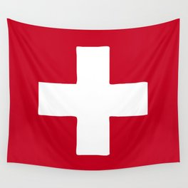 Switzerland flag emblem Wall Tapestry