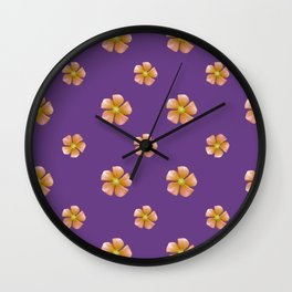 Ditsy Floral Pattern Wall Clock