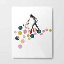 Nonsense, Old Magazines, Circles, Collage Art Metal Print