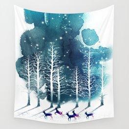 Winter Night 2 Wall Tapestry
