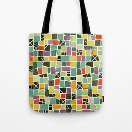 Square On Mosaic Tote Bag