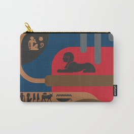 Egyptian Symbols Art Deco Composition #4 Carry-All Pouch