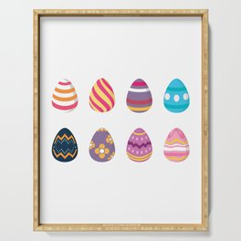 Colorful Easter Eggs Serving Tray