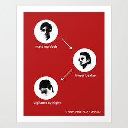 Who Is Matt Murdock? Art Print