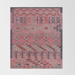 V21 New Traditional Moroccan Design Carpet Mock up. Throw Blanket