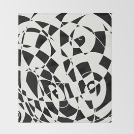 Curves And Contrast Throw Blanket