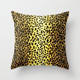 Leopard Print Animal Wallpaper Throw Pillow