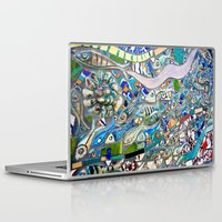bathroom Laptop & iPad Skins featuring Venice Beach Bathroom Art by Kim Ramage