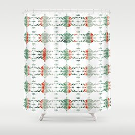 estrela_turqouise&red_no1 Shower Curtain