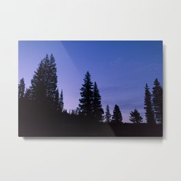 Sunrise Hike on Lake Irwrin Metal Print