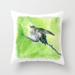Little Hummer by Teresa Thompson Throw Pillow