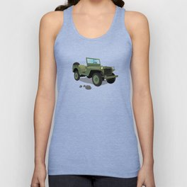 WWII Willys US Army Truck Unisex Tank Top