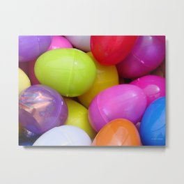 Eggs-actly Metal Print