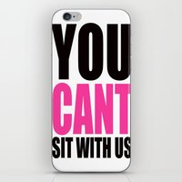 mean girls iPhone & iPod Skins featuring Mean Girls Quote by TurquoisedHearts