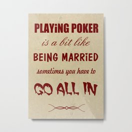 Playing Poker Metal Print