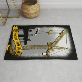 The Power of Tower Crane Rug