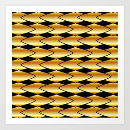 Luxury golden texture Art Print