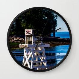 Life guard off duty - enjoy the beach Wall Clock