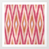 diamonds Art Prints featuring DIAMONDS by pattern paint