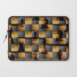 Wooden Chessboard and Chess Pieces  pattern Laptop Sleeve