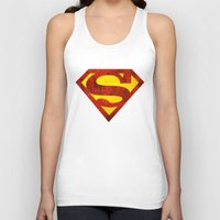 superman Tank Tops featuring Superman by S.Levis