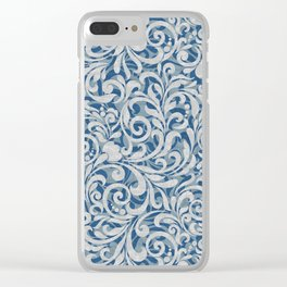 Scroll Pattern Clear iPhone Case