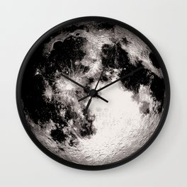 Giant Full Moon Poster, Moon Art Print, Square Full Moon Print, Wall Art, Home Decor, Luna Poster, Moon Print, Lunar Moon Print, Luna Moon, Full Moon, Black and White, Moon Art Print Wall Clock