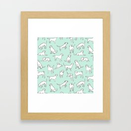 Mint Chocolate Labs Framed Art Print