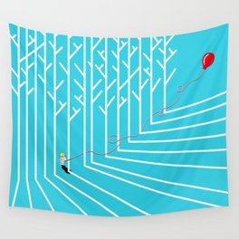 Astro Balloon | My Balloon Friend | Astronaut in Forest | Cosmonaut | pulps of wood Wall Tapestry
