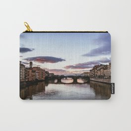 Sunset over the Arno river.  Carry-All Pouch