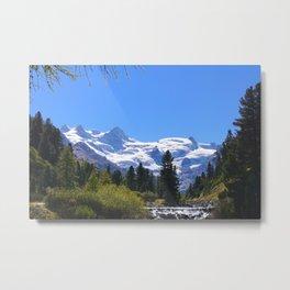 Roseggtal Switzerland - Swiss Alps Travel Metal Print