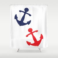 anchors Shower Curtains featuring Anchors by Indulge My Heart