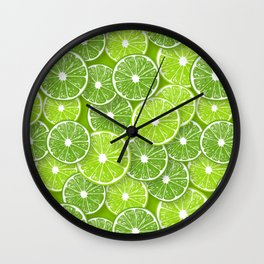 Lime pop Wall Clock
