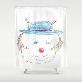 Childhood Drawings (clown) Shower Curtain