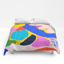Unbridled Enthusiasm - Shapes and Layers no.38 Comforters