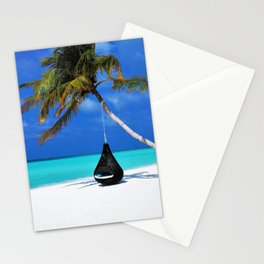 Maldives Island Paradise Landscape Stationery Cards