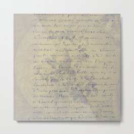 Aged Floral Letter Metal Print