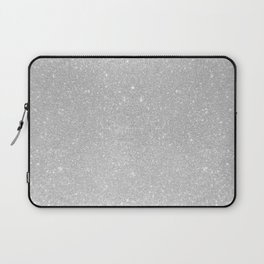 Pastel Grey Glitter Laptop Sleeve