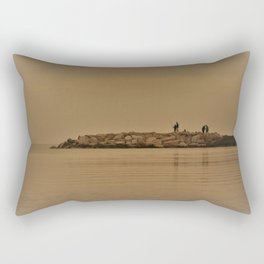 fishing in the coast from Spain Rectangular Pillow