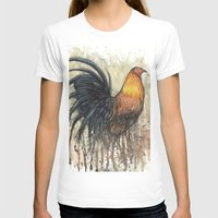 rooster T-shirts featuring Rooster by Villarreal
